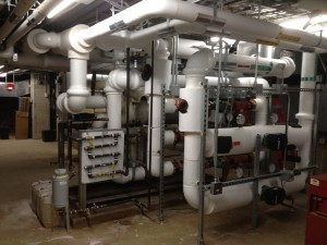 The design team used Revit® MEP software to create 3-D views of the complex piping and equipment arrangement. Through the high-quality virtual model, the team could more easily develop the design and installation and tweak plans when budgetary constraints demanded changes to the cooling plant layout.